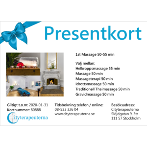 Presentkort - Massage 2