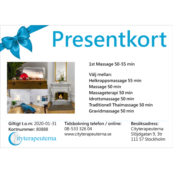 Presentkort - Massage 1